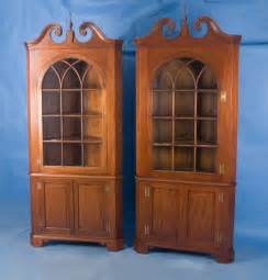 Antique Corner Cabinet For Sale by Pair Of Mahogany Corner Cabinets For Sale Antiques Com