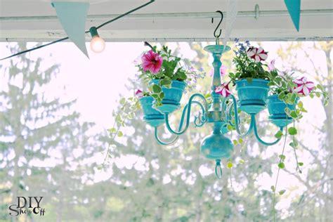 chandelier planter tutorial diy show diy