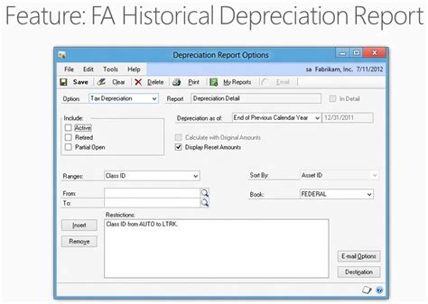 depreciation of fixed asset microsoft dynamics gp 2013 new feature fixed asset