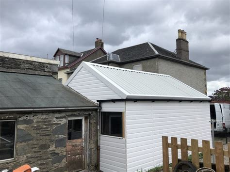 double skinned insulated pitched roof dunoon