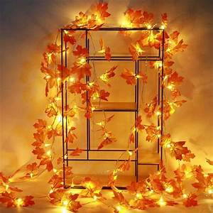 Reactionnx, Fall, Decorations, Maple, Leaf, String, Lights, Waterproof, Battery, Powered, Lighted, Fall