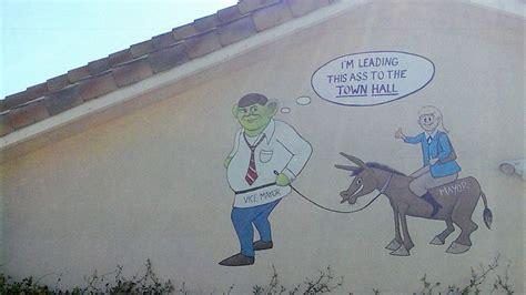 florida man takes revenge paints town officials  shrek