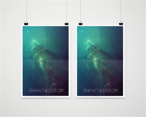 double poster mockup