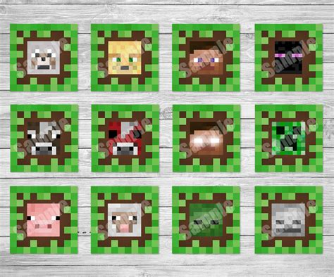minecraft printable cupcake toppers minecraft printables