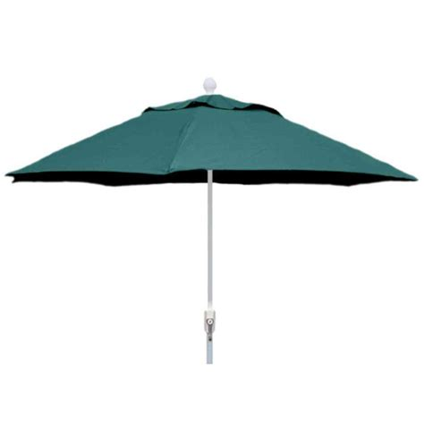 hton bay 11 ft solar offset patio umbrella in cafe