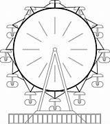 Ferris Wheel Coloring Clipart Sheet Clip Cliparts Template Pages Library Paris Line Colouring Coloringhome sketch template