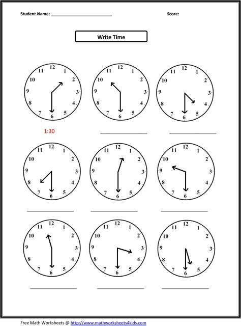 grade  worksheets math math timemeasurement
