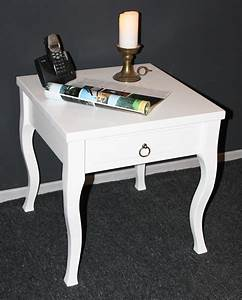 Couchtisch Mit Schublade Weiß : massivholz beistelltisch wei couchtisch mit schublade nachttisch nachtkommode ~ Whattoseeinmadrid.com Haus und Dekorationen