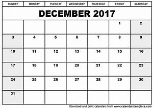 December 2017 Calendar | 2018 calendar with holidays