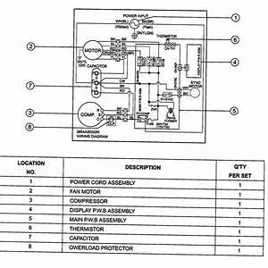Goldstar Wg6000r Room Air Conditioner Parts