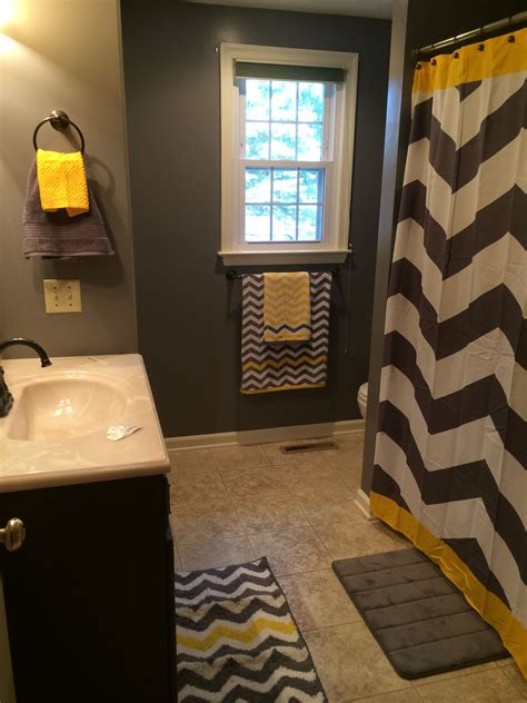 yellow and gray bathroom ideas gray and yellow chevron bathroom or substitute the yellow
