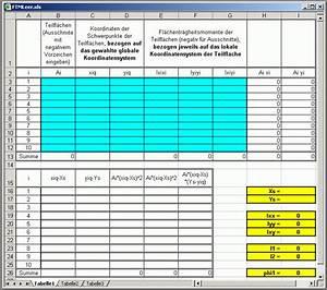 Excel Tabelle Berechnen : tabelle zur berechnung von fl chentr gheitsmomenten ~ Themetempest.com Abrechnung