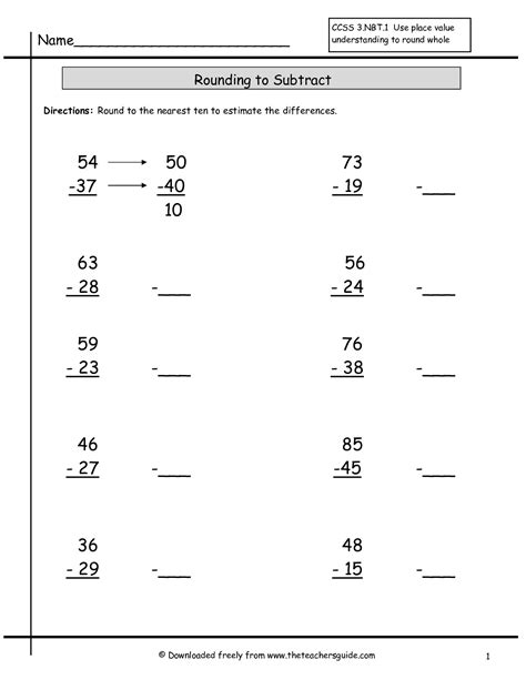 Rounding Whole Numbers Worksheets From The Teacher's Guide