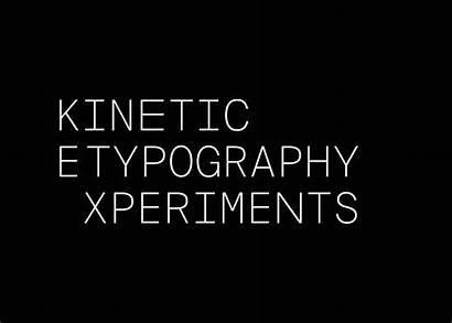 Kinetic Typography Behance Experiments Motion Type Graphic