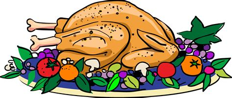 cooked turkey clipart best