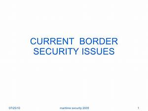 Current Border Security Issues