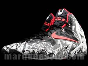 "Nike LeBron 11 ""Graffiti"" – White – Black – Red ..."