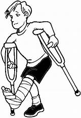 Broken Drawing Leg Coloring Pages Drawings Illness Legs sketch template