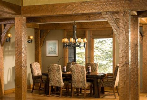 Homes Interiors by New Idaho Timber Home By Precisioncraft