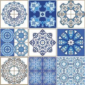 Stickers Carreaux De Ciment : 9 stickers carreaux de ciment azulejos stella salle de ~ Premium-room.com Idées de Décoration