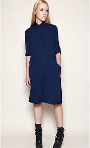 long silk shirt dress quotchloequot mondefilecom With robe en soie bleue