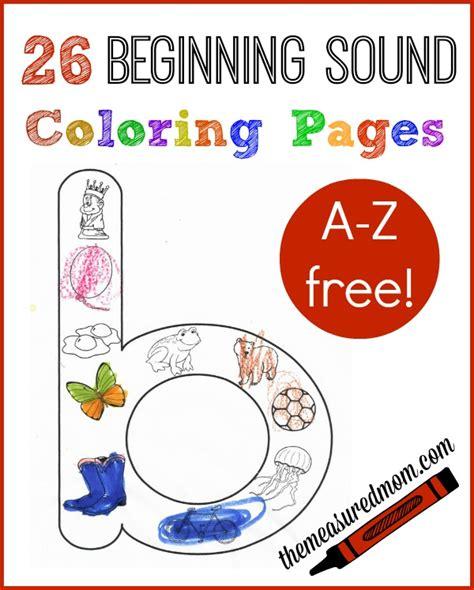 Free Beginning Sounds Worksheets  The Measured Mom