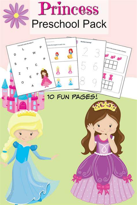 princess preschool printable worksheet