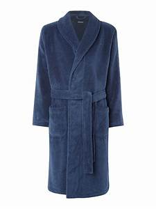 tommy hilfiger hilfiger logo robe in blue for men lyst With tommy hilfiger robe