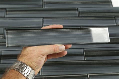 black glass tiles for kitchen backsplashes dark gray black 2x12 subway glass tile for kitchen backsplash or bathroom ebay