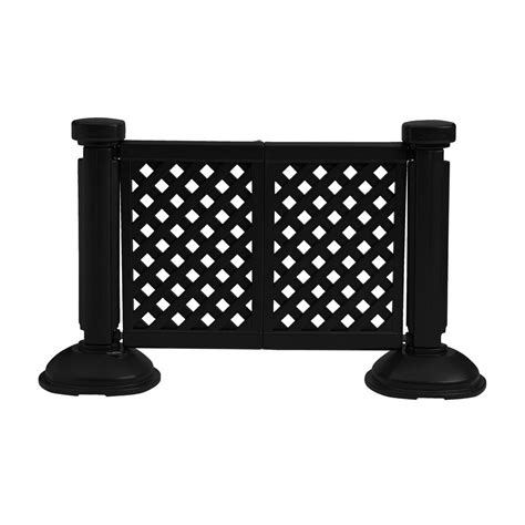 portable decorative patio fencing post and base et t