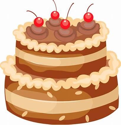 Cake Chocolate Clipart Cherries Cakes Transparent Yopriceville