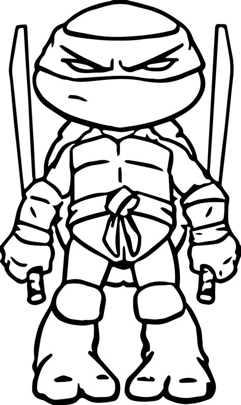 Online Coloring Pages Ninja Turtles The Color Panda
