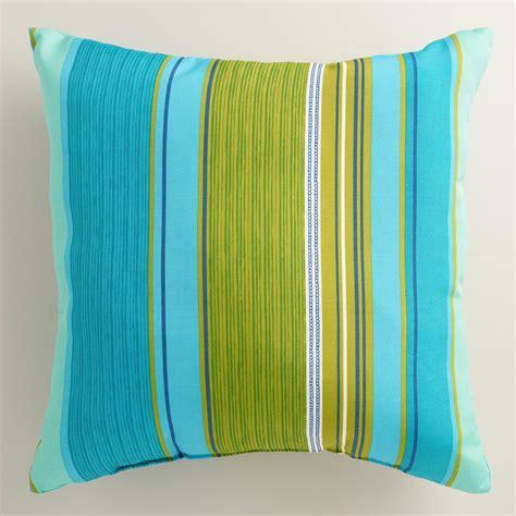 coastal throw pillows coastal stripe outdoor throw pillow world market