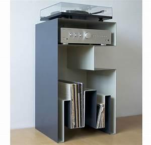 Meuble Pour Vinyle : design vinyl turntable furniture full steal by gaelle pinel meuble pour vinyles de gaelle ~ Teatrodelosmanantiales.com Idées de Décoration