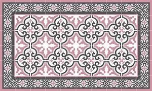 Tapis Vinyl Carreaux De Ciment : tapis vinyle carreaux de ciment simone rose ~ Melissatoandfro.com Idées de Décoration