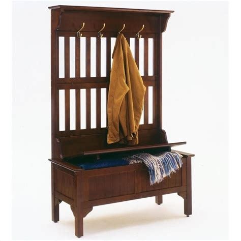 Small Tree Storage Bench by Tree Storage Bench In Cherry 5648 49
