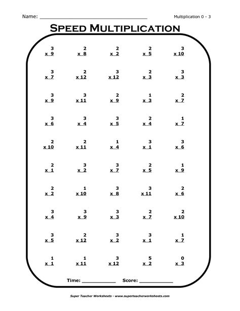 2 Times Table Practice Worksheets Multiplication Maths