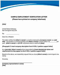 How to write an Employment Verification Letter Sample