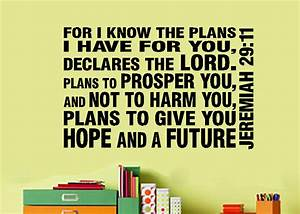 Jeremiah 29 11 I know the plans subway art bold on picture