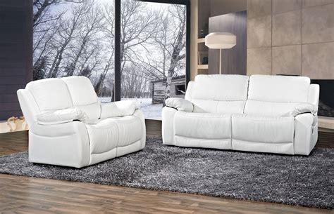 canapé blanc en cuir canapé angle cuir blanc pas cher