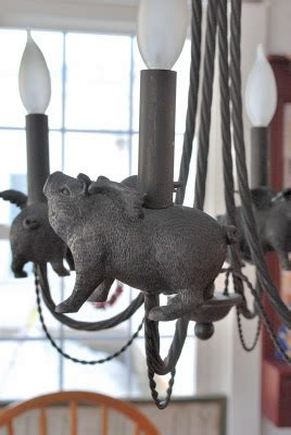 flying pig chandelier friendly homes friday wendy hyde lifestyle