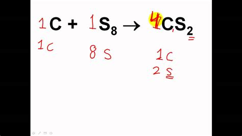 How To Balance Chemical Equations & Reactions 1  Easy! Youtube