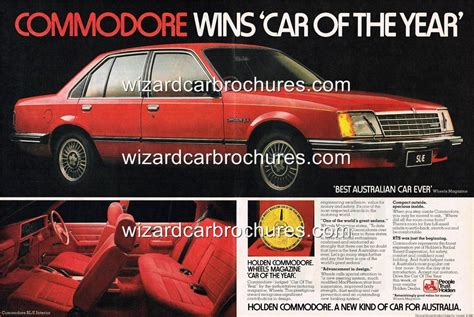 1978 Holden Vb Commodore Sl E A3 Poster Ad Sales Brochure