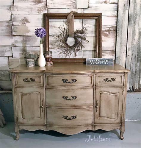 Van Dyke Brown Glazed Millstone Dresser   General Finishes