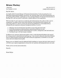 leading professional assistant manager cover letter With how to write a cover letter for manager position