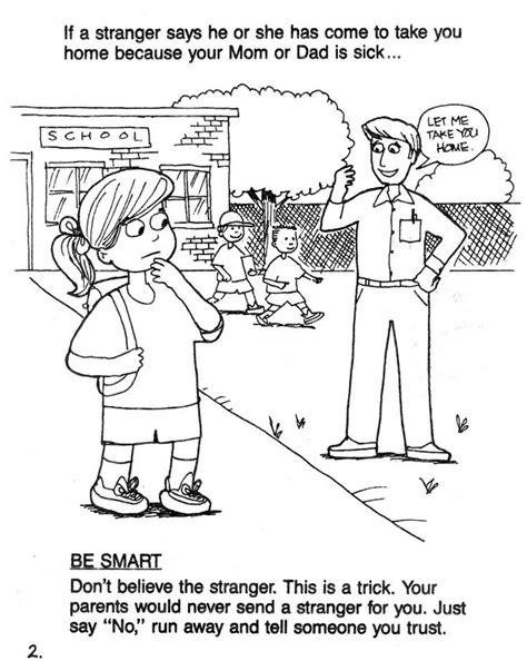 stranger safety for preschoolers danger coloring pages bestofcoloring 504