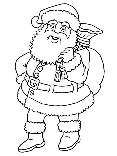 printable blank santa claus  large images double