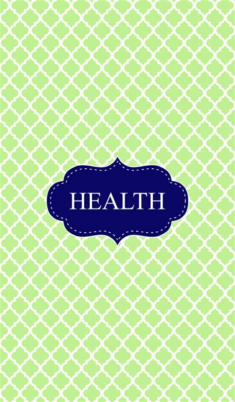 green health binder cover binder covers pinterest