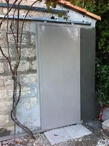 Rail Porte Coulissante Exterieure : porte metallique coulissante sur rail cadolive m tal concept ~ Dallasstarsshop.com Idées de Décoration
