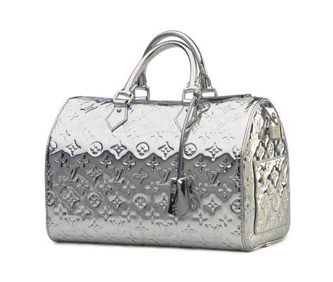 silver monogram vernis speedy mirror bag labeled louis vuitton   christies